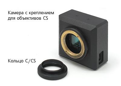 Камера и переходное кольцо C/CS